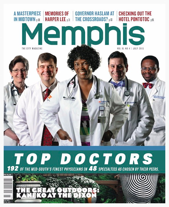 Memphis Magazine Top Docs Cover